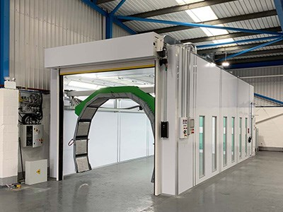 Todd Engineering spray booth for Halo ARC Eastleigh