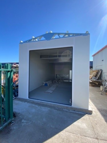 External spray booth installed by Todd Engineering